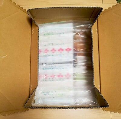 ロハコを注文してお届けされた状態のダンボーツの中身の写真