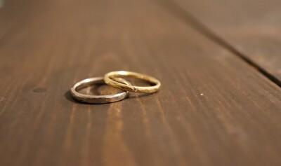 旦那さんと自分のメデルジュエリーの結婚指輪