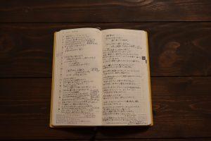 ほぼ日手帳に書き込んである自分の手帳のページ
