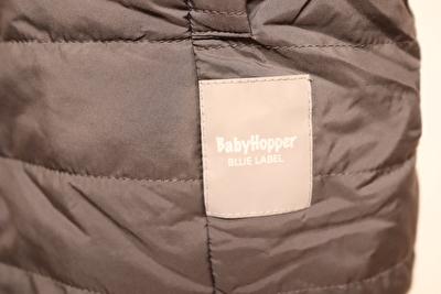 べビーホッパーのエルゴ防寒カバーのロゴの写真
