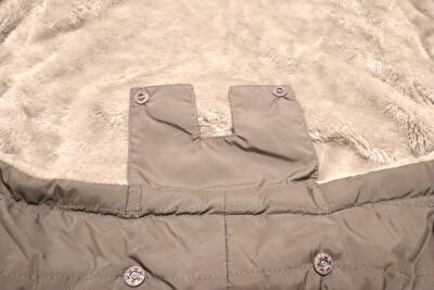 べビーホッパーのエルゴの防寒カバーの腰ベルト部分の写真