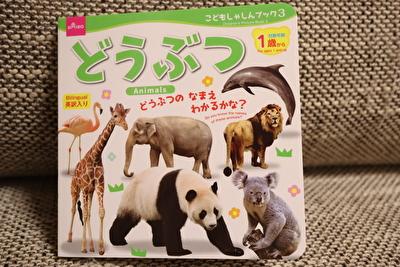 ダイソーで買った動物の絵本