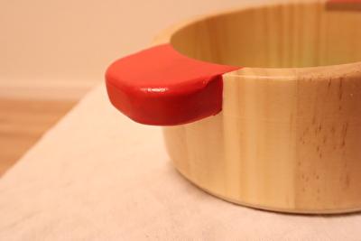ウッディプッディのお鍋の持ち手部分の写真