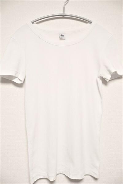 プチバトーの白いTシャツ