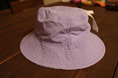 パタゴニアの子供用の紫の帽子