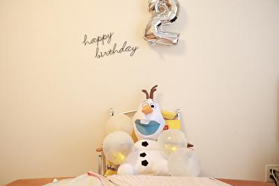 100均で買ったバルーンで飾り付けた2歳の誕生日会