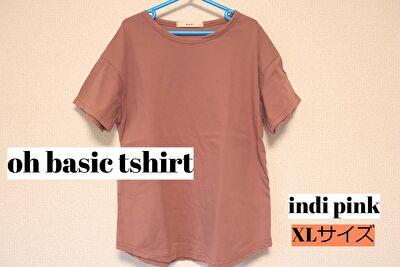 monmimiのoh basic tshirtのindipinkのXLサイズ